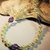 Antique White Pearl and Amethyst Crystal Necklace, Pearl Jewelry, Bridesmaid