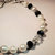 White and Black Pearl with AB Polished Crystal Bracelet, Pearl Bracelet, Wedding