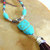 Owl Tassel Necklace, Long Necklace, Owl Jewelry, Boho Jewelry, Turquoise