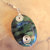 Rainforest Jasper Pendant, Green and Blue, Silver Wire Wrap, Handcrafted Jewelry