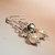 Smokey Grey and Pink Crystal Pearl Earrings, Pearl and Crystal, Dangle Earrings,