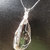 Sea Fossil Pendant, Orthnoceras Pendant, Handcrafted Jewelry, Silver Wire Wrap,