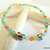 Frog Anklet, Turquoise and Orange, Handcrafted Jewelry, Boho Jewelry, Beach
