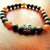 Owl Stretch Bracelet, Jasper and Carnelian Bracelet, Mens Jewelry, Handcrafted