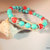 Turquoise and Red Magnesite Bangle, Gemstone Jewelry, Handcrafted Jewelry,