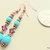 Turquoise Earrings, Dangle Earrings, Turquoise Jewelry, Turquoise and Purple,