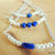 Bar Bracelet, Pearl and Lapis, Separately or as a Set of Three, Rustic Wedding,