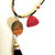 Tassel Necklace, Red Creek Jasper and Sandalwood, Long Necklace, Gemstone
