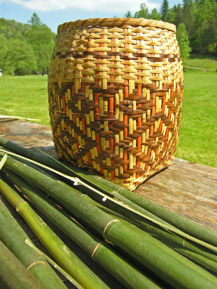 Fine Art Photography, Cherokee Basket Weaving Image, Matted Photography, Native
