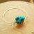 Turquoise Nugget Bangle, Silver Bangle, Native Style, Southwestern Jewelry,