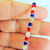 Faux Sea Glass Anklet, Red White and Blue, Handcrafted Anklet, Beach Jewelry,