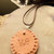 Pottery Clay Pendant, Cherokee Language, Native Style Jewelry, Handcrafted
