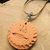 Cherokee Language Pottery Pendant, Tsalagi Pendant, Native Style, Wire Wrap