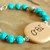 Friendship Bracelet, Cherokee Language, Turquoise Jewelry, Corn Bead Bracelet,