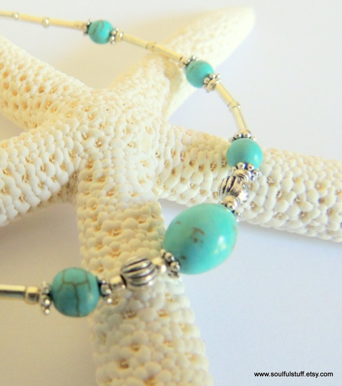 Turquoise Anklet, Ankle Bracelet, Summer Jewelry, Turquoise Bracelet,