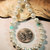 White Pearl and Turquoise Crystal Necklace, Pearl and Crystal Jewelry, Turquoise