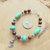 Turquoise and Mahogany Obsidian Bracelet, Equestrian Bracelet, Horse Totem,