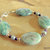 Lepidolite Bracelet, Sterling Silver, Chunky Bracelet, Statement Jewelry, Purple