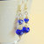 Cobalt Blue Crystal Bracelet, Jewelry Gift Set or Separately, Handcrafted