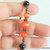 Orange Cat's Eye Bracelet, Orange and Copper, Orange and Black, Fall Bracelet,
