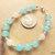 Aquamarine and Snowy Quartz Bracelet, Sterling Silver Bracelet, Handcrafted