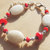 Snowy Quartz Jewelry, Red and White, Chunky Jewelry, Valentine Jewelry,