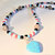 Heart Necklace, Corn Bead Necklace, Seed Bead Jewelry, Turquoise Jewelry,