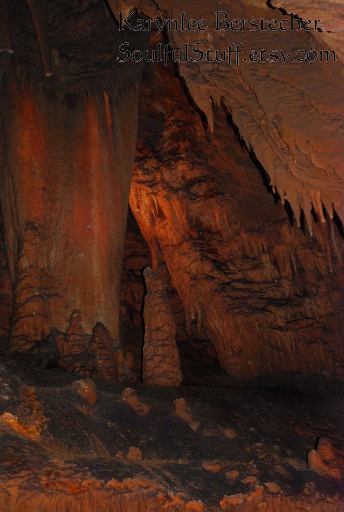 """Fine Art Photography-""""The Watcher"""", Matted Photography, Cavern Photography, Rock"""