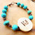 Cherokee Language Bracelet, Turquoise Bracelet, Turquoise and Copper, Peace