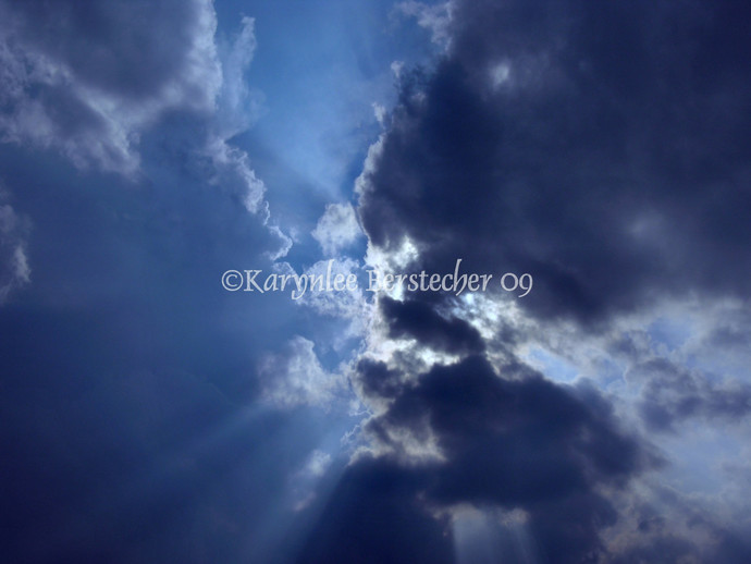 The Kiss, Fine Art Photography, Matted Photography, Cloudscape, Home Decor,