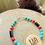 Cherokee Language Jewelry, Peace Jewelry, Turquoise Bracelet, Tsalagi Jewelry,