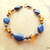 Lapis and Copper Bracelet, Gemstone Jewelry, Blue and Amber, Copper Jewelry,