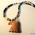 Jasper Eagle Head Pendant, Native Style, Seed Bead Necklace, Picture Jasper