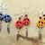 Peace Sign Earrings, Dangle Earrings, Native Style, Red, Blue or Orange,