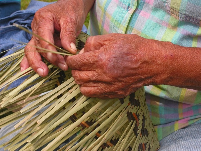 Emma's Hands, Basket Weaving, Fine Art Photography, Matted Photography, Cherokee