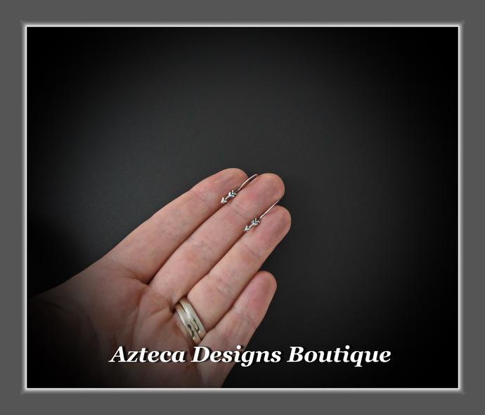 Fly True~ Tiny Sterling Silver Arrow Artisan Earrings