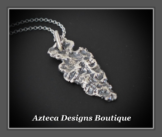 Arrowhead Hand Fabricated Solid Silver Pendant Necklace Unisex