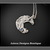 Crescent Moon Hand Fabricated Solid Silver Moonstone Pendant Necklace