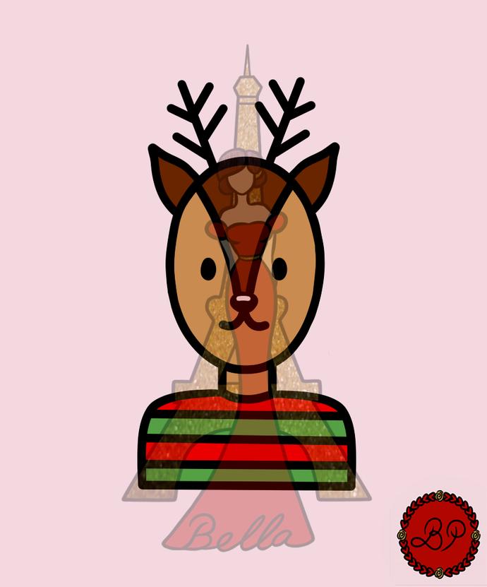 Reindeer Digital Stamp