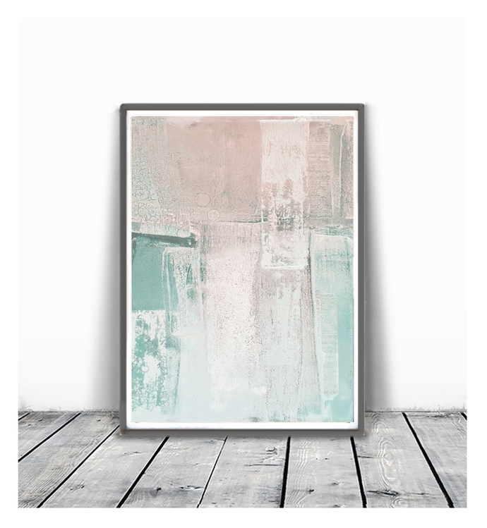 Print, contemporary art, wall art abstract, digital image, abstract ,peach and