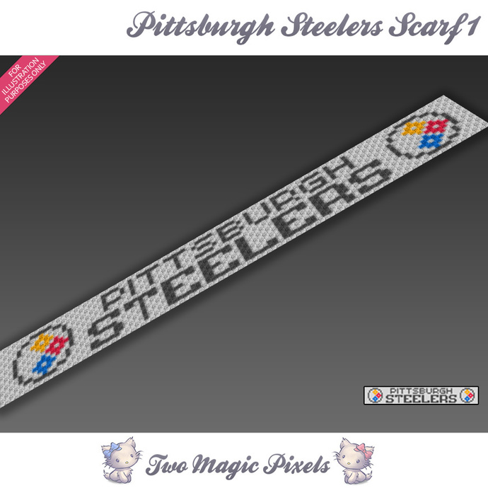 Pittsburgh Steelers Scarf 1 pattern; graph; pdf download; C2C row-by-row counts
