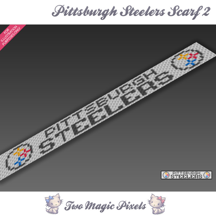 Pittsburgh Steelers Scarf 2 pattern; graph; pdf download; C2C row-by-row counts