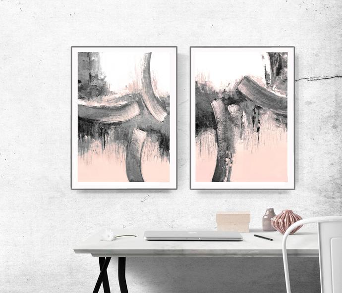 Scandinavian abstract printable art art poster modern abstract industrial