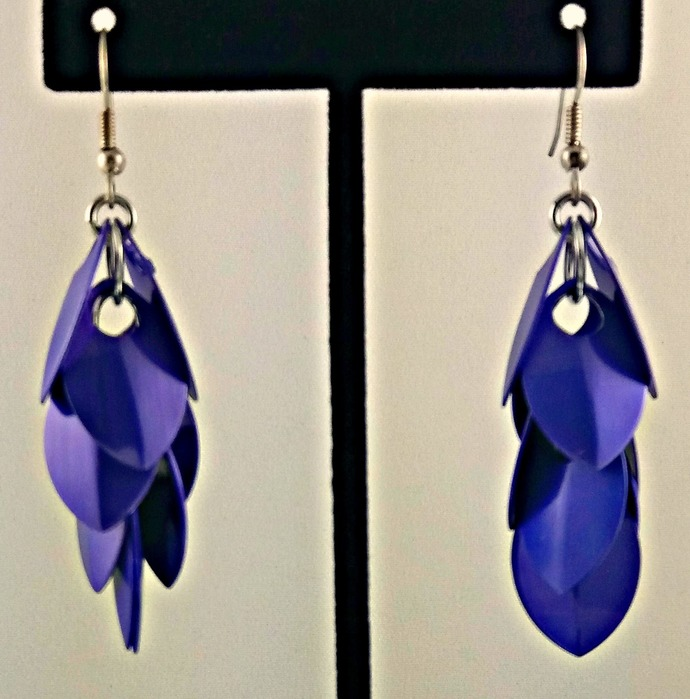 Deep Purple Rain Earrings