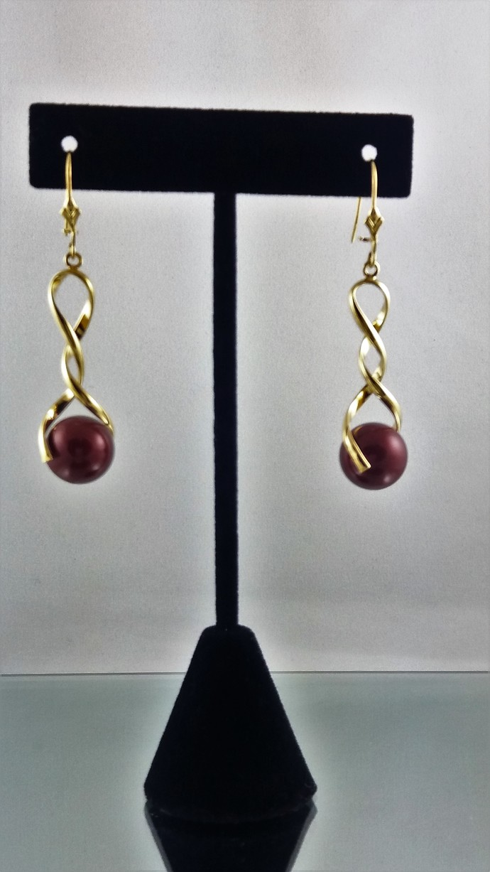 Love's Crimson Embrace Earrings