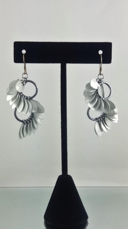 Silver Whorls Earrings