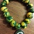 Green Bay Packer Fan Clay bracelet.