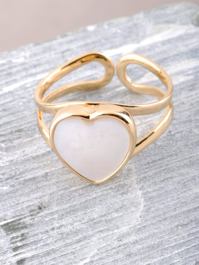 Glazed Heart Ring