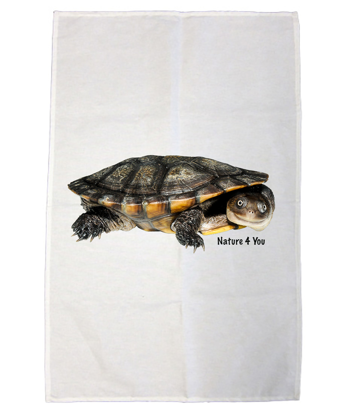 100% Cotton Tea Towel - Cann's Long Neck Turtle