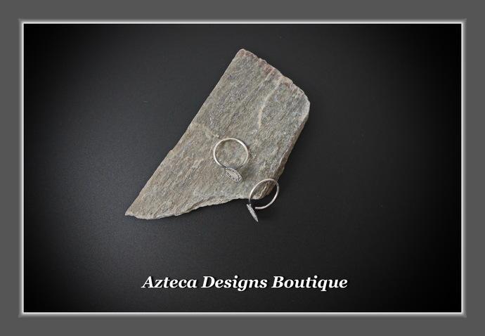 Horseshoe Tiny Sleeper Hoops Argentium (93.5) Silver Earrings